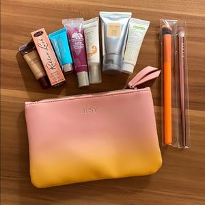 NEW - makeup bag, makeup, skincare, brushes